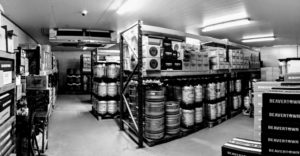The Jolly Good Beer warehouse coldstore.